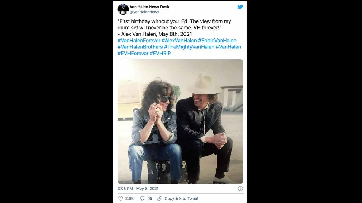 Van Halen social media capture