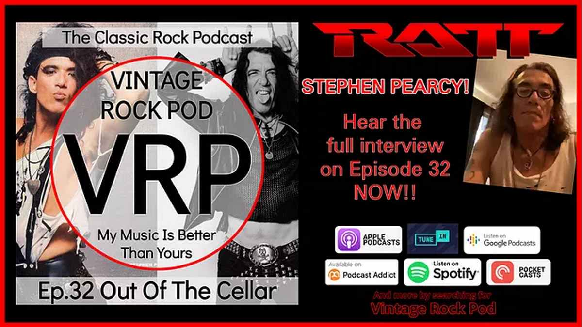 Stephen Pearcy podcast promo